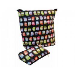 Bolso new baby stroller bag owls black