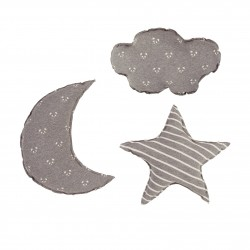 Baby clic Pack 3 cojines Gris oscuro