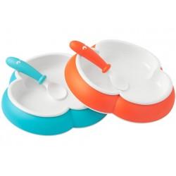 Plato y Cuchara y Tenedor 2-pack Naranja