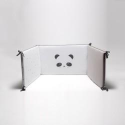 Protector de cuna 60/70 Panda Gris
