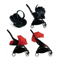 Cochecito Yoyo Trio negro Rojo