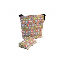 Bolso new baby stroller bag owls Grey