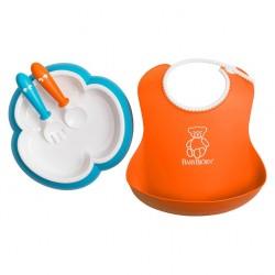 Vajilla Bebé Naranja/Turquesa