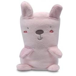 Manta toys microfibra Forest rosa