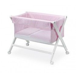 Minicuna plegable New Stars rosa