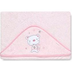 Maxicapa Osito star rosa