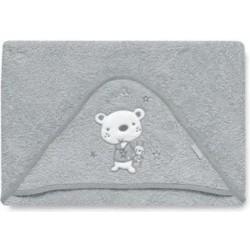 Maxicapa Osito star gris