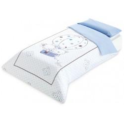 Funda nórdica cama 90 Globo azul