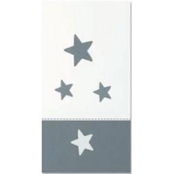 Arrullo de punto corona y estrellas gris