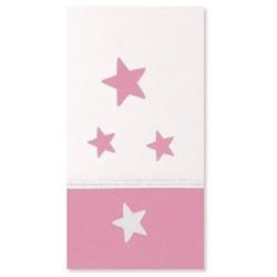 Arrullo de punto corona y estrellas rosa