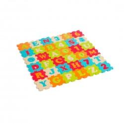 Alfombra de piezas espuma letras y