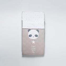 Saco cuna ajustable Panda Gris