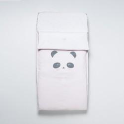 Saco cuna ajustable Panda Rosa