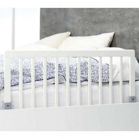 Barrera de cama madera blanca babydan for Camas blancas de madera
