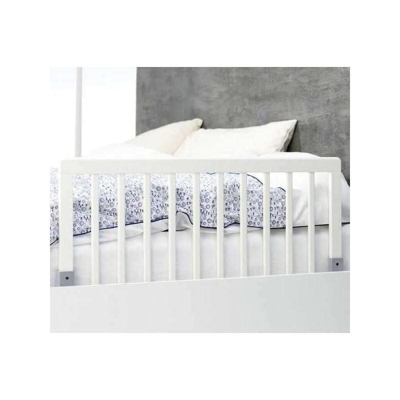 Barrera de cama madera blanca babydan for Cama blanca