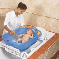 Bañera Ok Baby Onda evolution en azul.