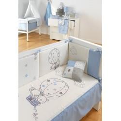 Funda nórdica+funda almohada Globo Azul